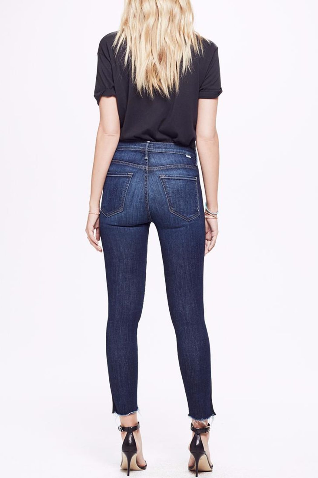 Mother Ankle Step Fray Jeans - Back Cropped Image