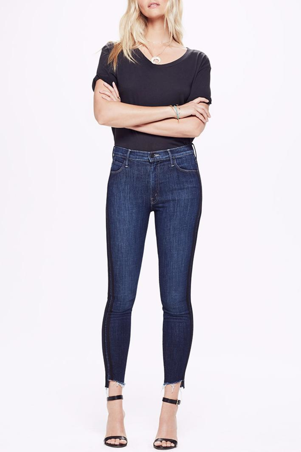 Mother Ankle Step Fray Jeans - Main Image