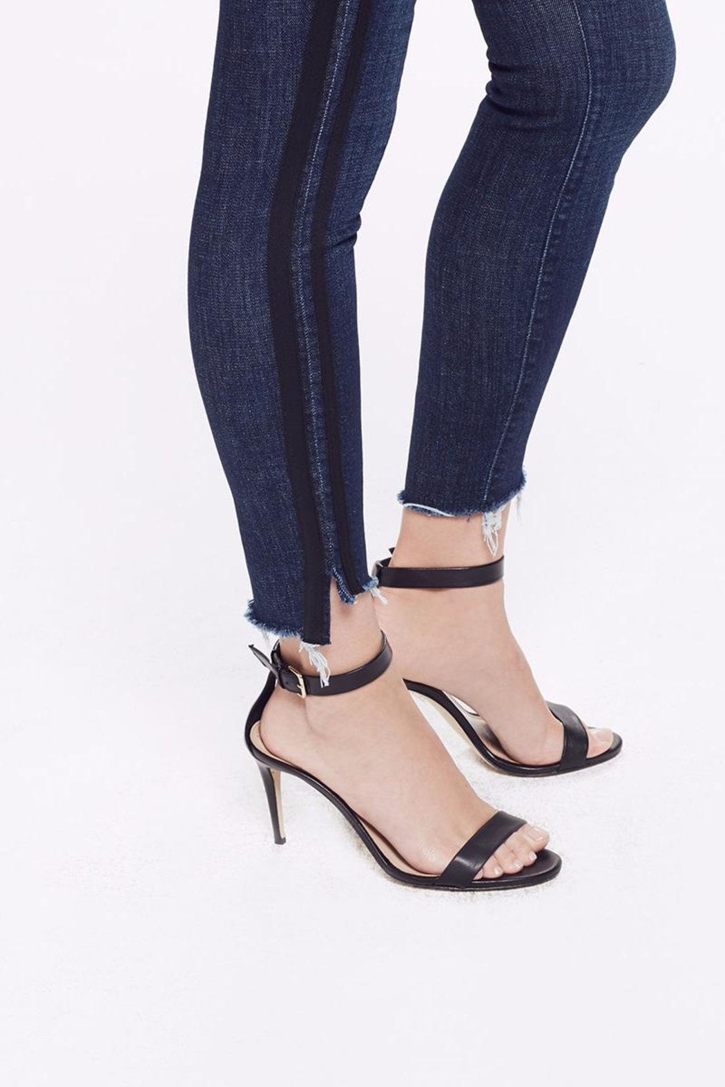 Mother Ankle Step Fray Jeans - Front Full Image