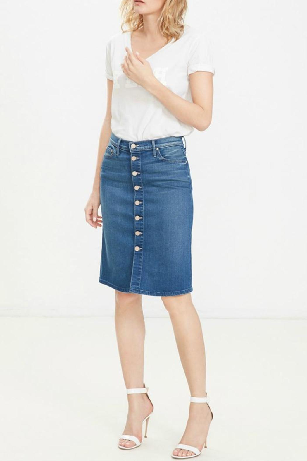 button midi skirt from new york by encounter
