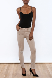 Mother Ankle Fray Jean - Front full body