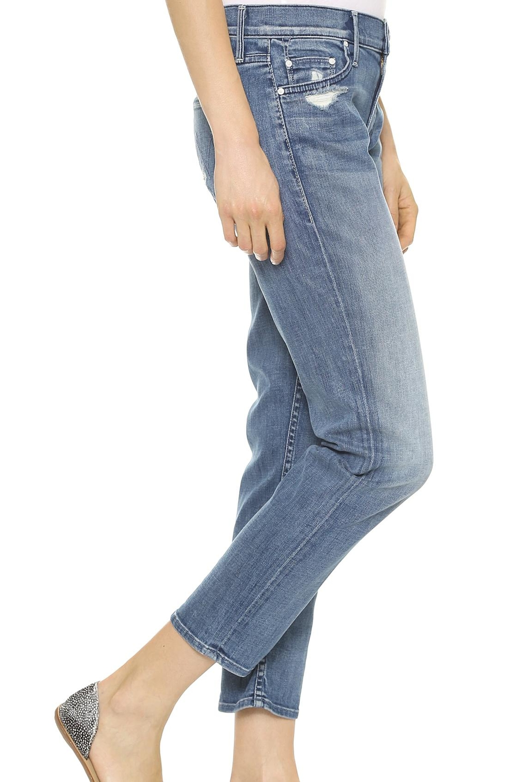 Mother Dropout Slouchy Skinny - Side Cropped Image