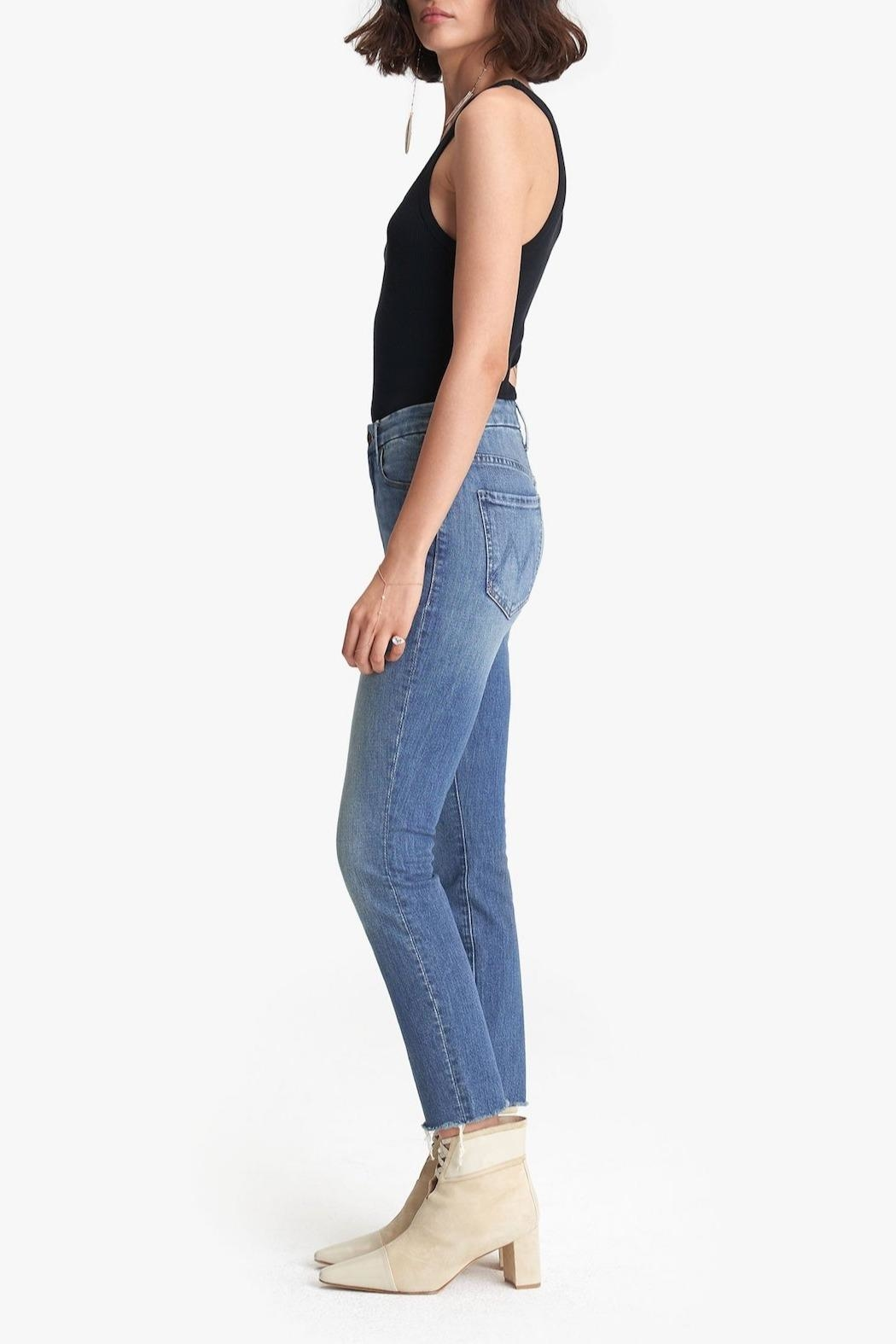 Mother High-Waisted Looker Ankle-Fray - Front Full Image