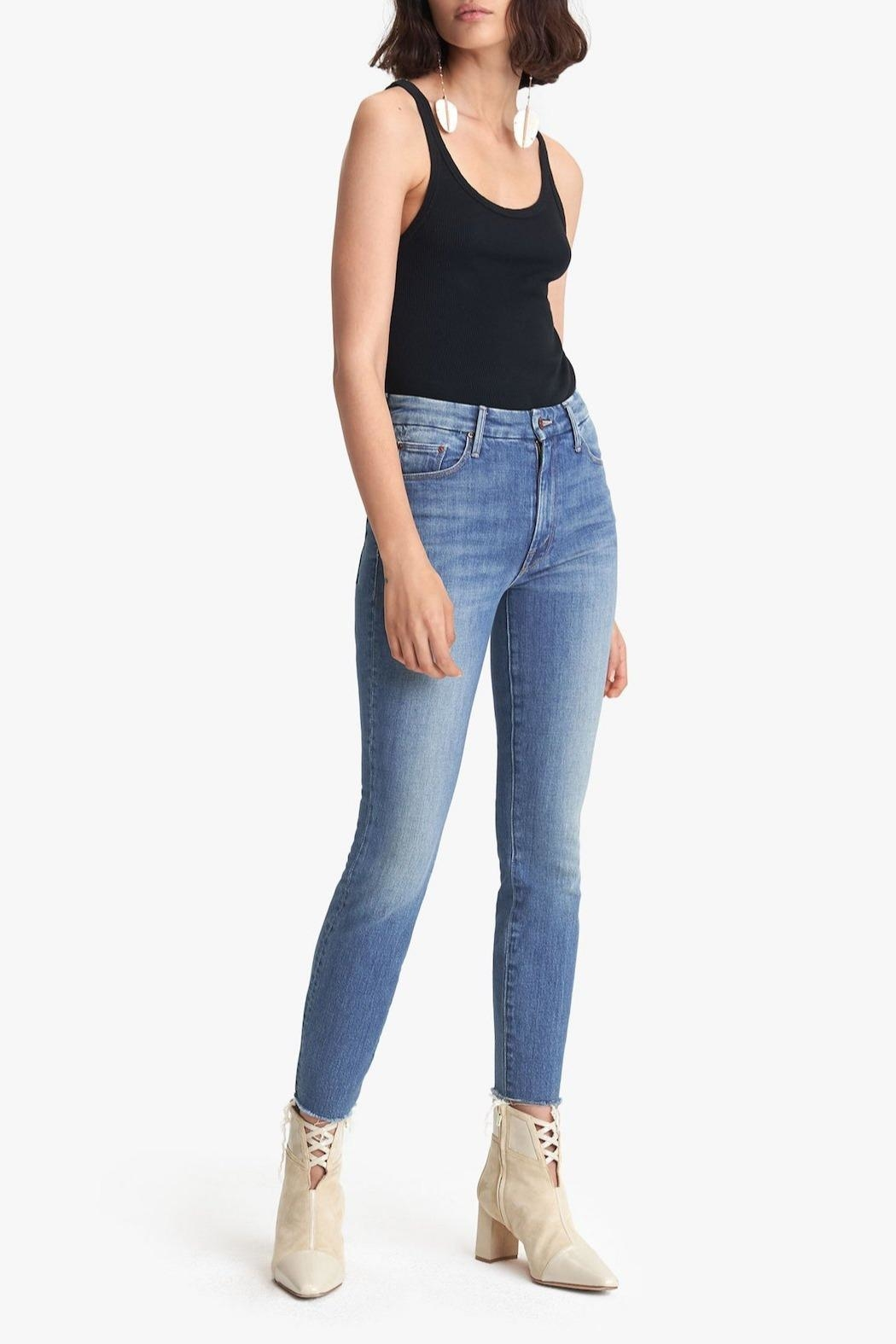 Mother High-Waisted Looker Ankle-Fray - Main Image