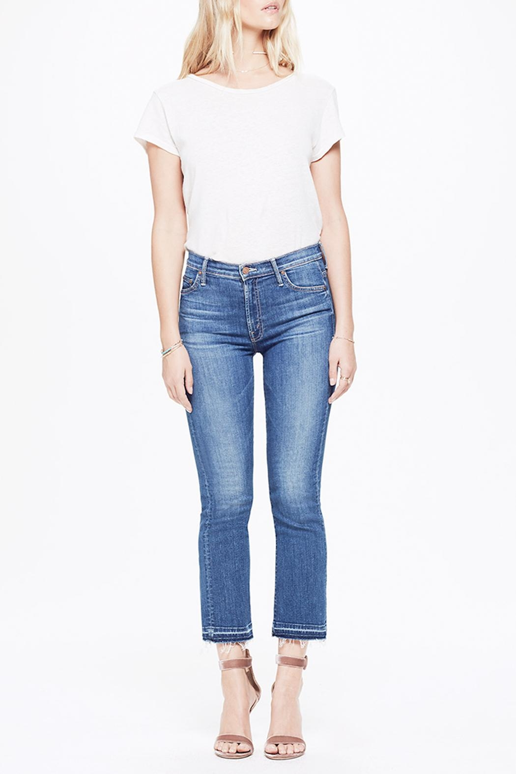 Mother Insider Cropped Jeans - Main Image