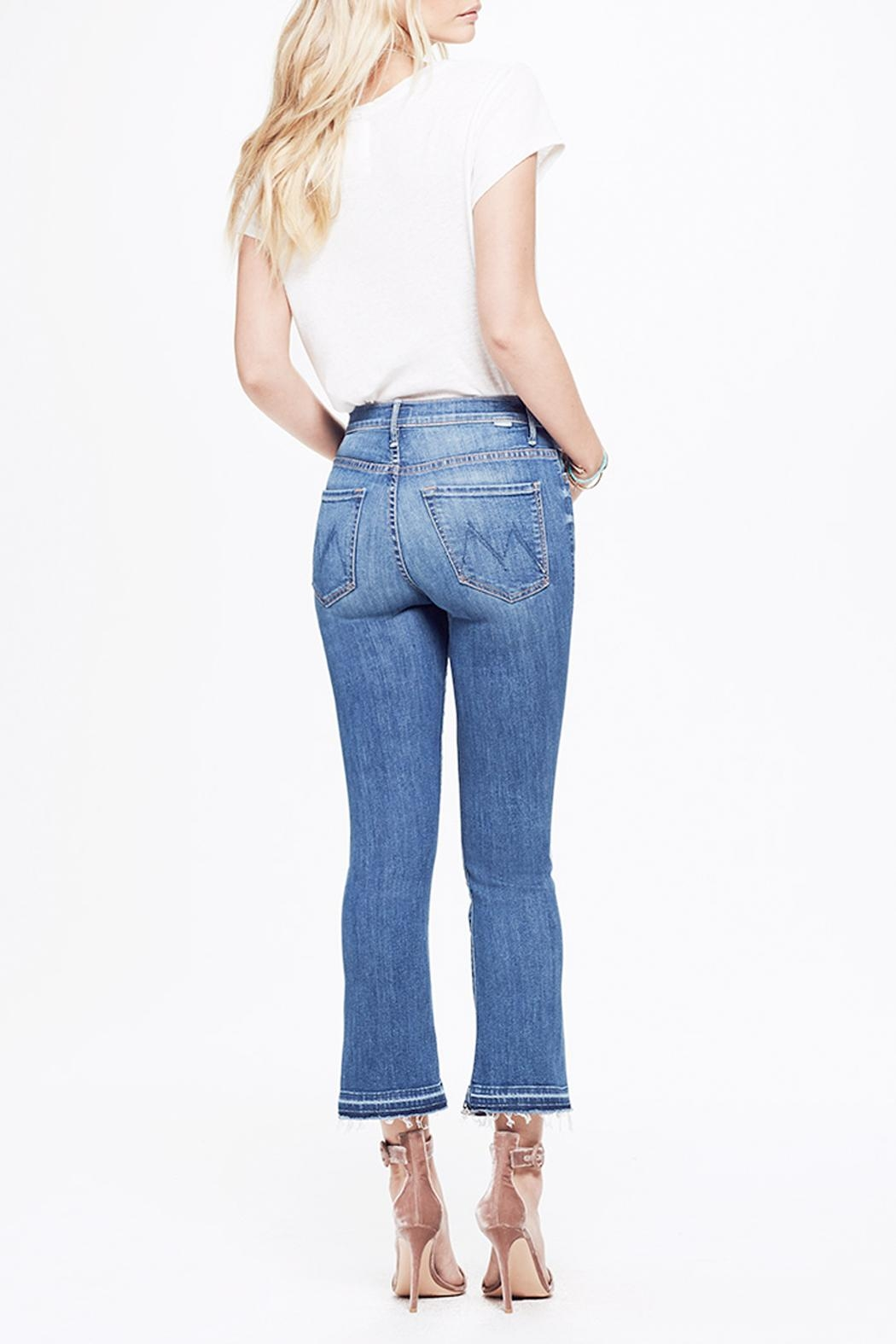 Mother Insider Cropped Jeans - Side Cropped Image