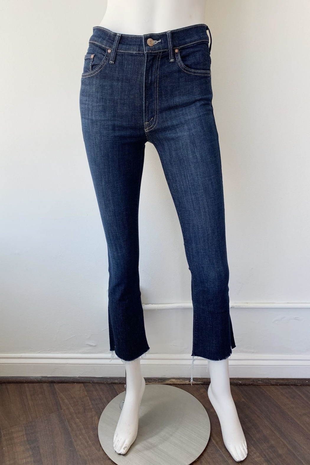 Mother Insider Crop Jeans - Side Cropped Image