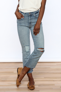 Shoptiques Product: Insider Crop Step Fray Jean