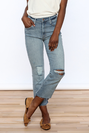 Mother Insider Crop Step Fray Jean - Product Mini Image