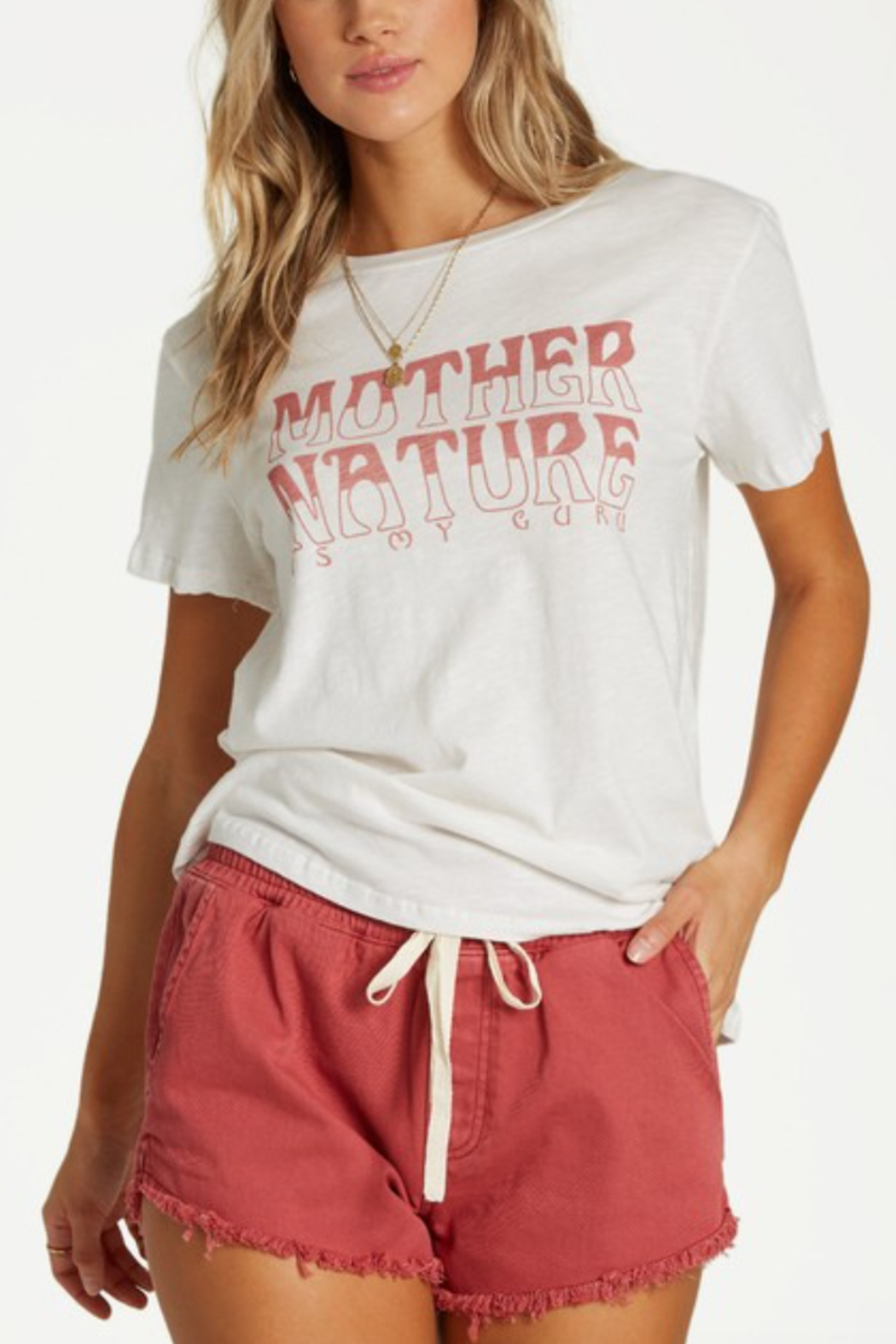 Billabong Mother Nature Tee - Front Cropped Image