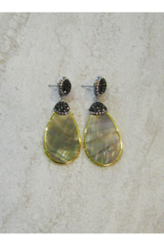 Sophia's MOTHER OF PEARL & CRYSTALS TEARDROP EARRING - Product Mini Image