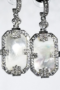 Italian Ice Mother-Of-Pearl Earrings - Product List Image