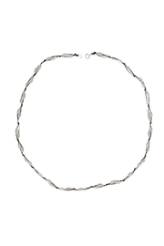 Bronwen Mother of Pearl Fishermans Necklace - Front cropped