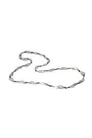 Bronwen Mother of Pearl Fishermans Necklace - Front full body