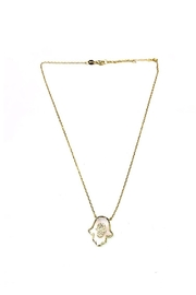 Lets Accessorize Mother-Of-Pearl Hamsa Necklace - Product Mini Image