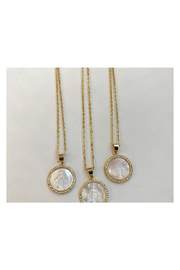 The Birds Nest MOTHER OF PEARL MARY NECKLACE - Product Mini Image