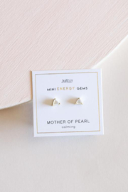 JaxKelly Mother of Pearl Mini Energy Gems - Front full body
