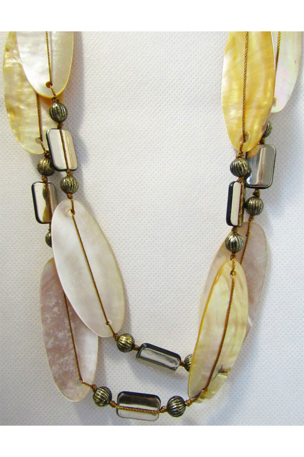 Int'l Duru Mother Of Pearl Shells 2-Strand Necklace - Main Image
