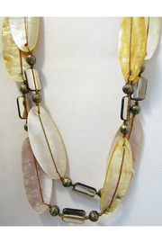 Int'l Duru Mother Of Pearl Shells 2-Strand Necklace - Front cropped