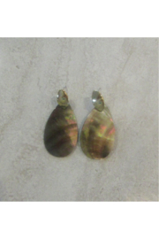 Sophia's MOTHER OF PEARL TEARDROP EARRING - Front cropped