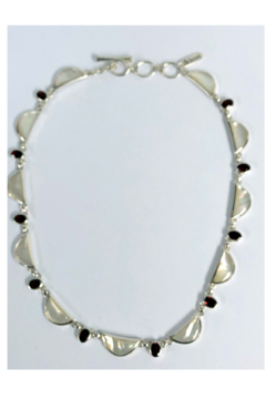 ACleoni Mother of Pearl w Garnet stones Neck - Product List Image