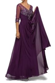 DANCING QUEEN Mother of the Bride Dress in Plum - Front cropped