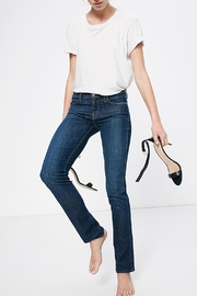 Mother Rascal Straight Jeans - Front full body