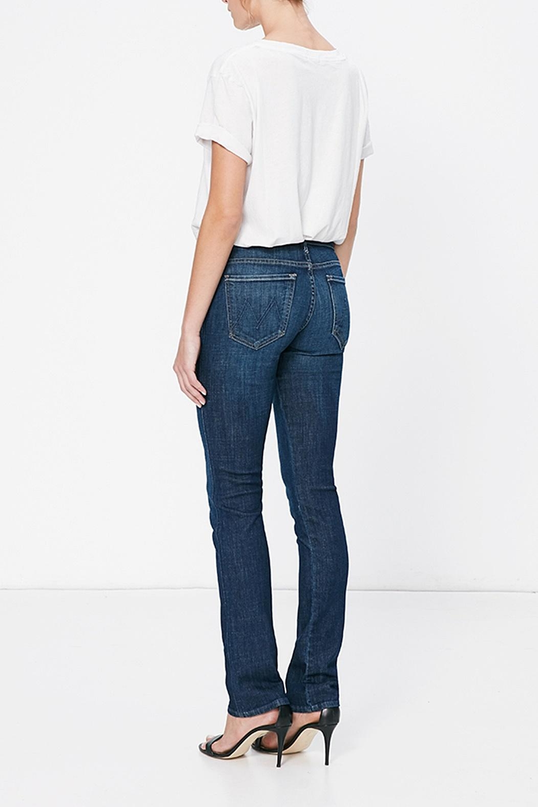 Mother Rascal Straight Jeans - Side Cropped Image