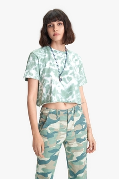 Mother Slouch Cutoff In Olive Drab - Product List Image