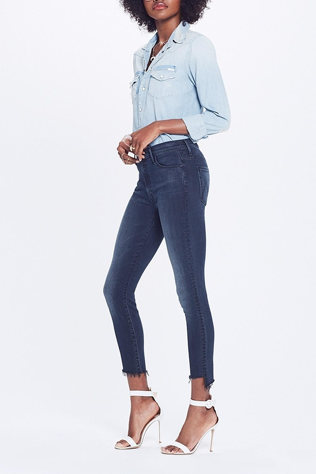 Mother Stunner Ankle Jean - Front Full Image