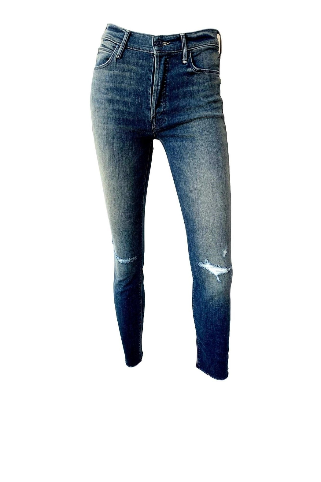 Mother Stunner Fray Jeans - Front Cropped Image