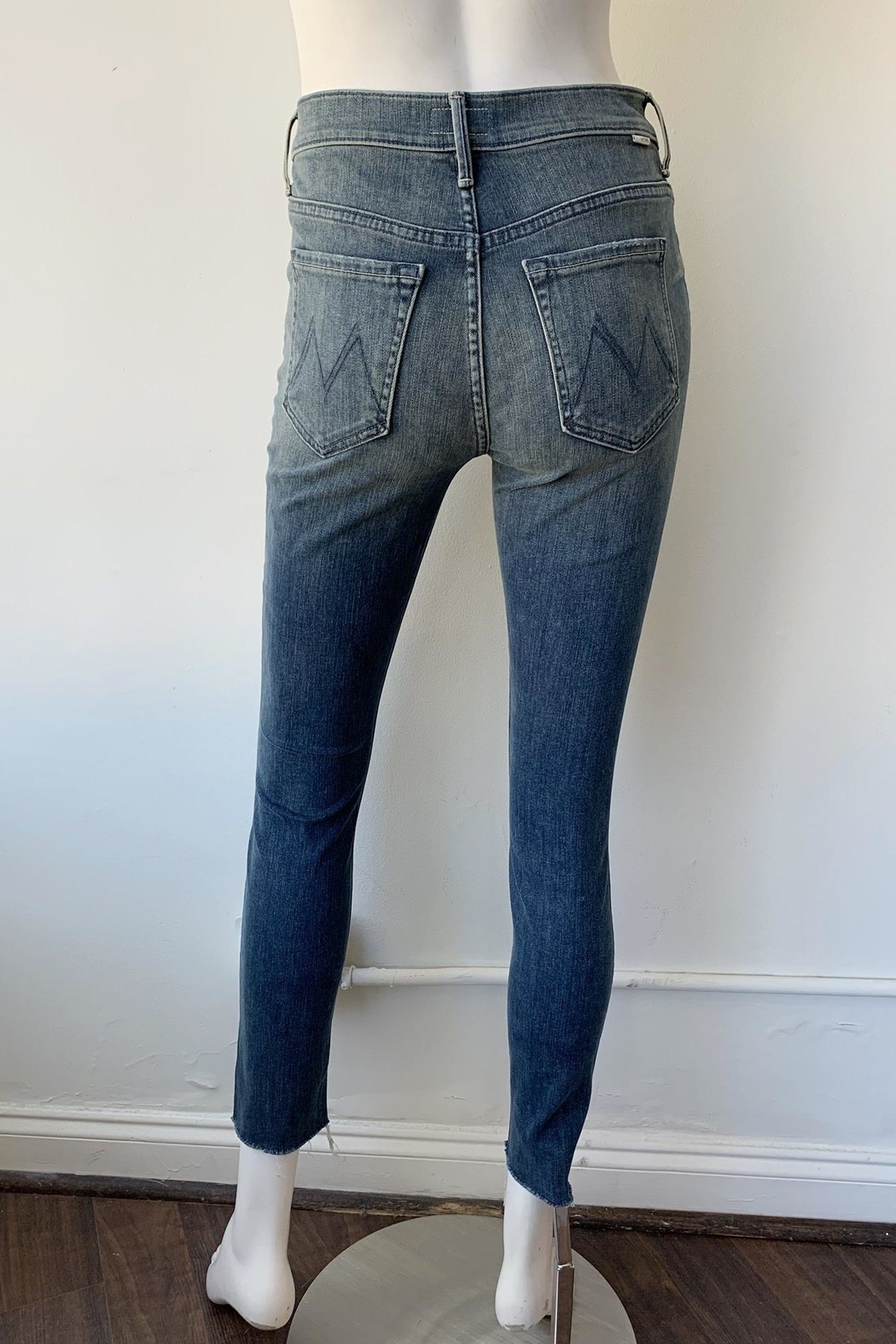 Mother Stunner Fray Jeans - Back Cropped Image