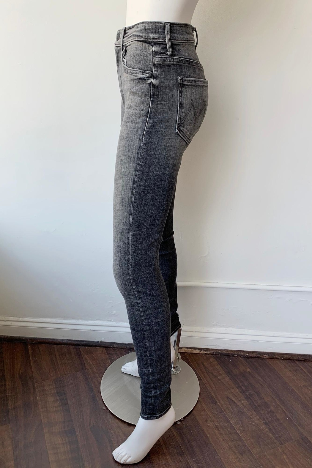 Mother Swooner High Rise Skinny Jeans - Side Cropped Image