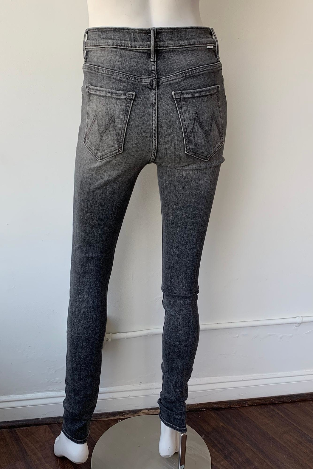 Mother Swooner High Rise Skinny Jeans - Back Cropped Image