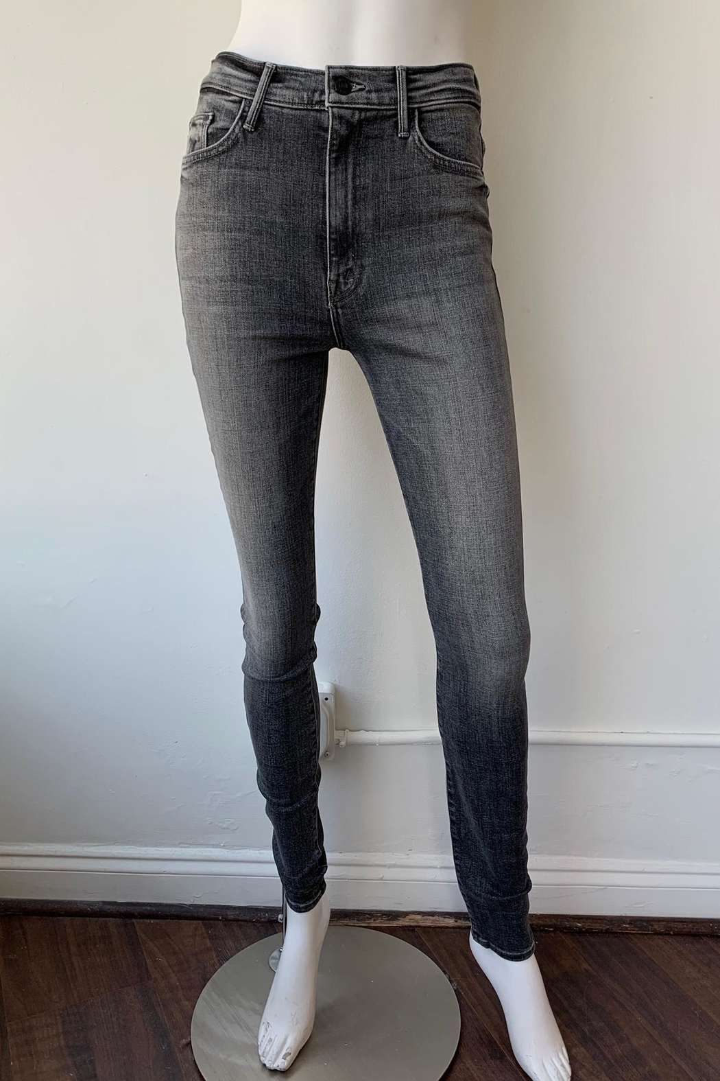 Mother Swooner High Rise Skinny Jeans - Front Full Image