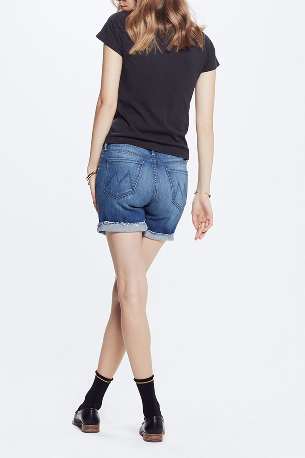 Mother Vagabond Denim Shorts - Back Cropped Image