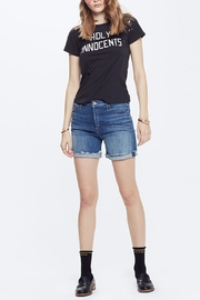 Mother Vagabond Denim Shorts - Front full body