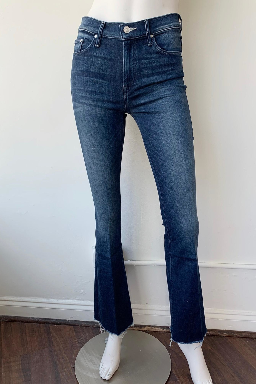 Mother Weekender Flare Fray Jeans - Front Full Image