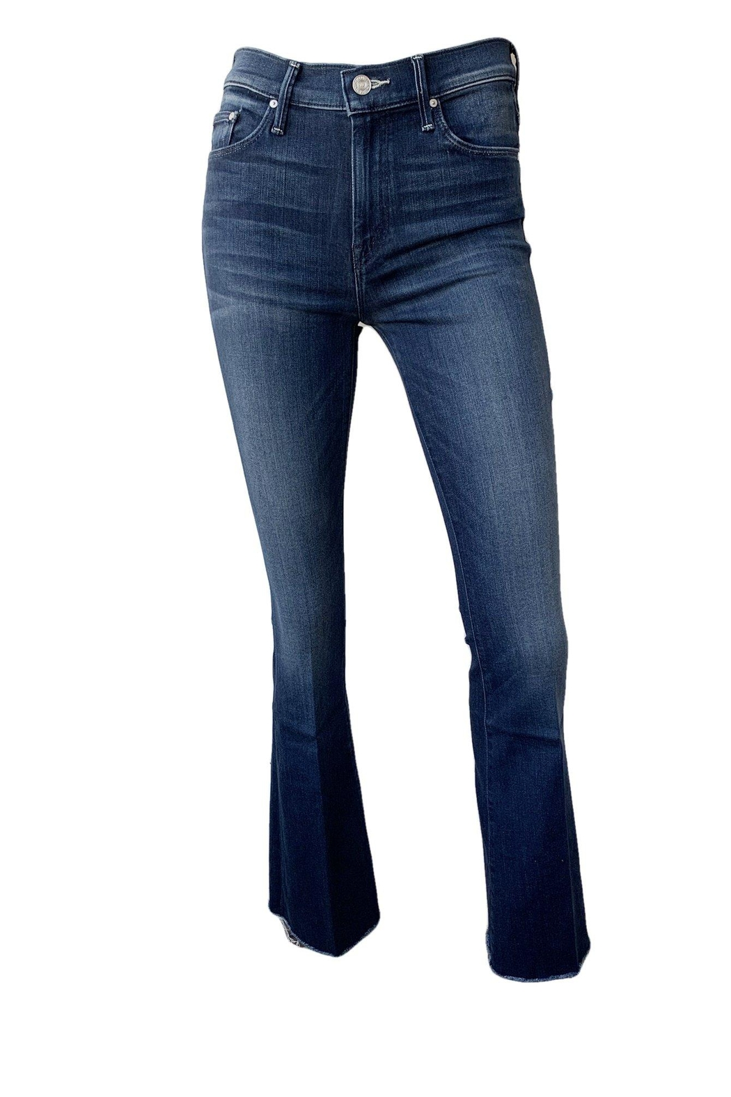 Mother Weekender Flare Fray Jeans - Main Image