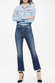 Mother Hustler Ankle Fray Jeans - Front cropped