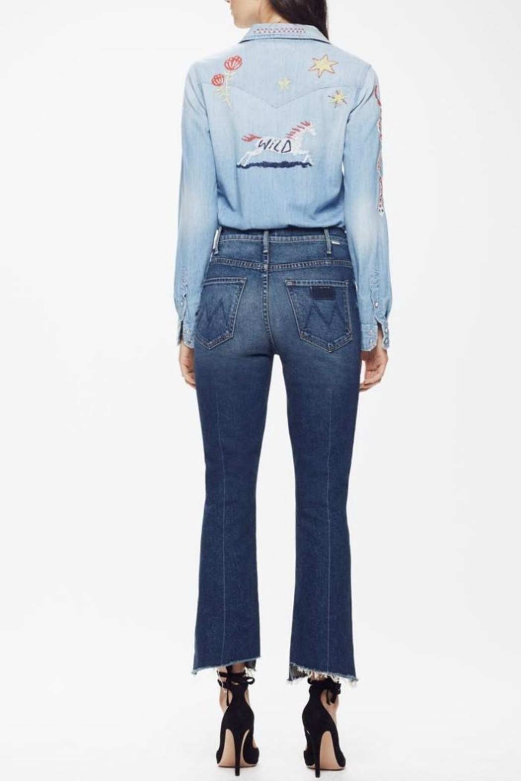 Mother Hustler Ankle Fray Jeans - Side Cropped Image