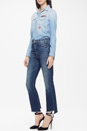 Mother Hustler Ankle Fray Jeans - Front full body