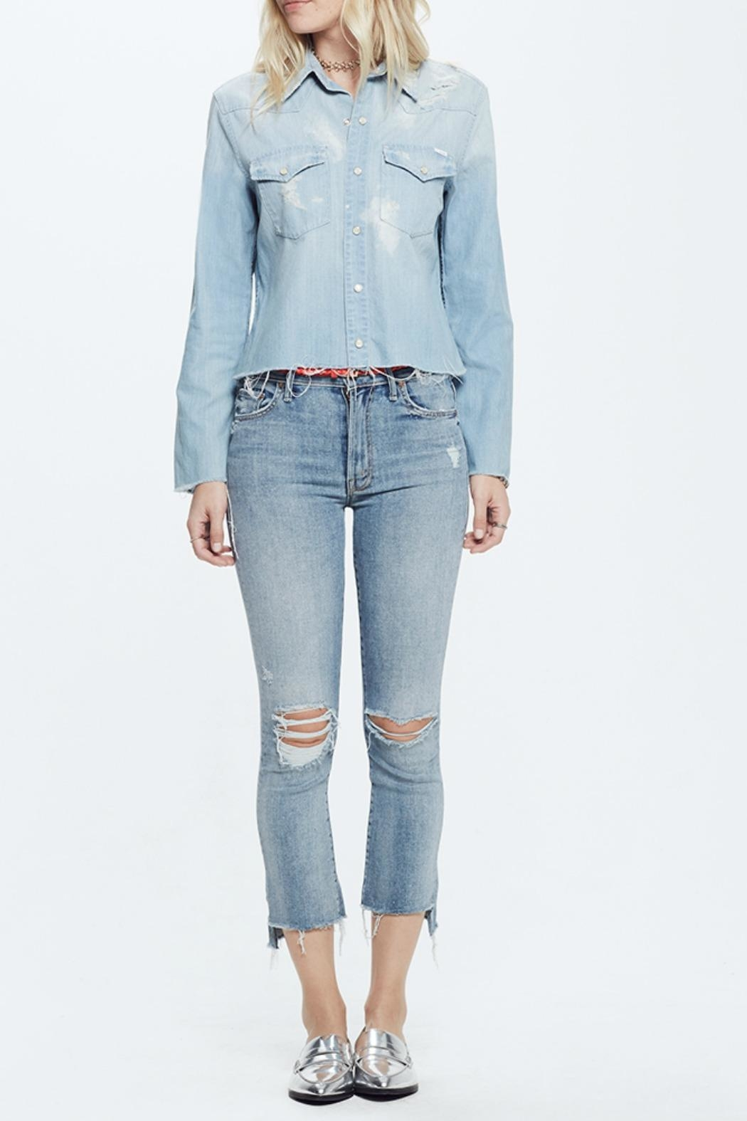 Mother Insider Crop Jeans - Main Image