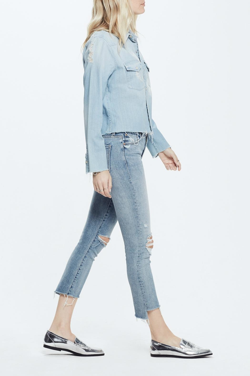 Mother Insider Crop Jeans - Front Full Image