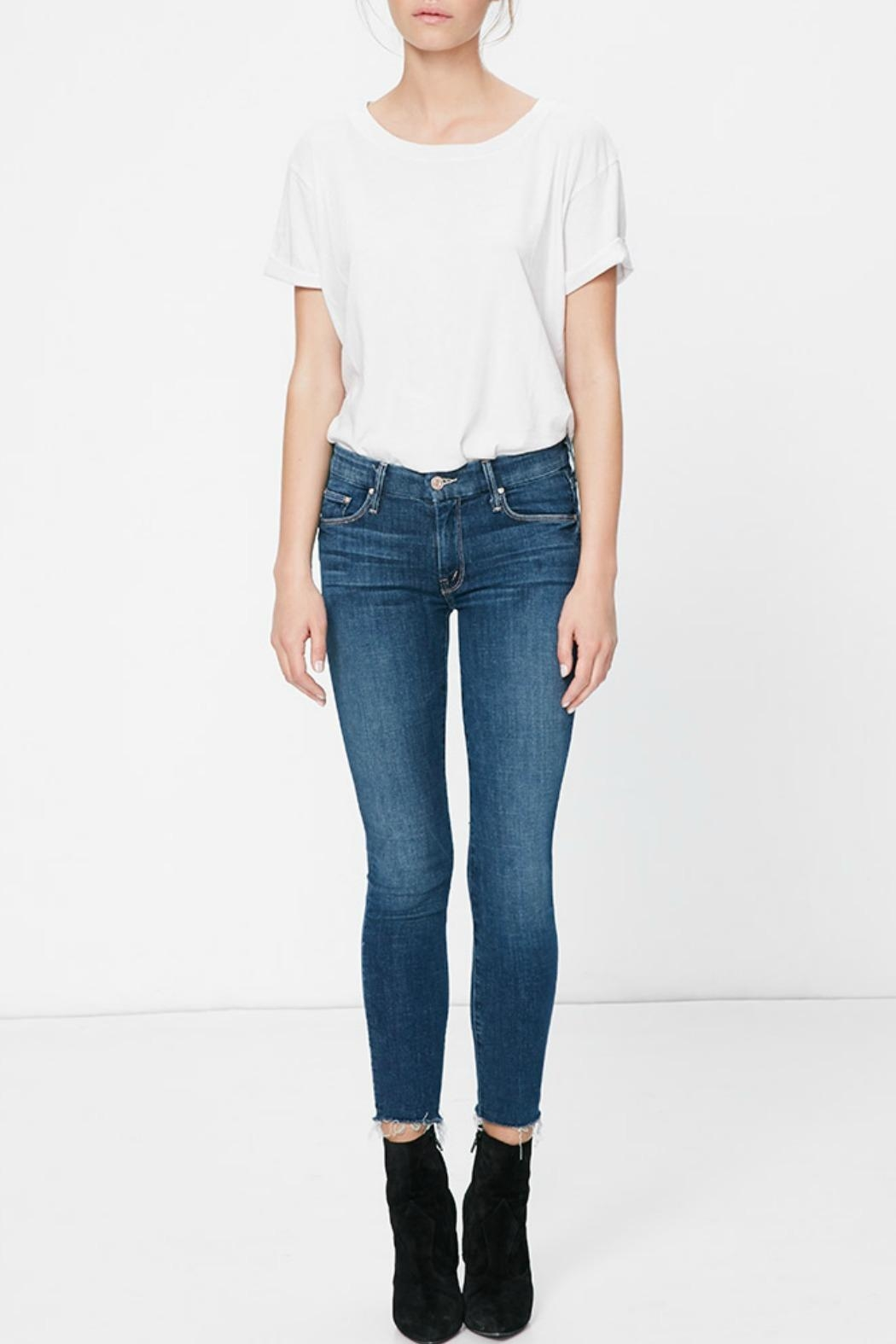 Mother Denim Looker Ankle Fray - Main Image