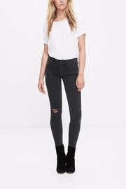 Mother Denim Looker Faded Black - Front cropped