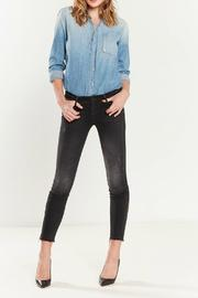 Mother Looker Zipper Fray - Front cropped