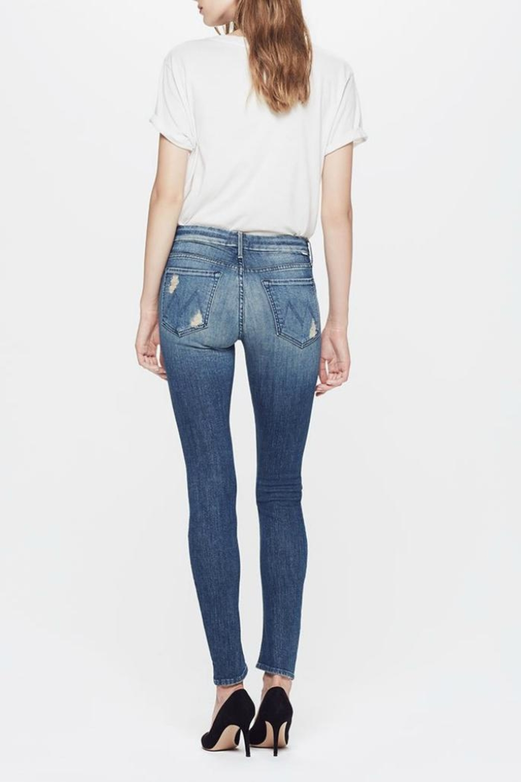 Mother The Looker Skinny Jeans - Side Cropped Image