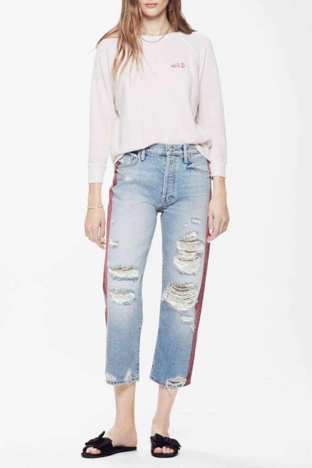 Mother Thrasher High Rise Jeans - Main Image