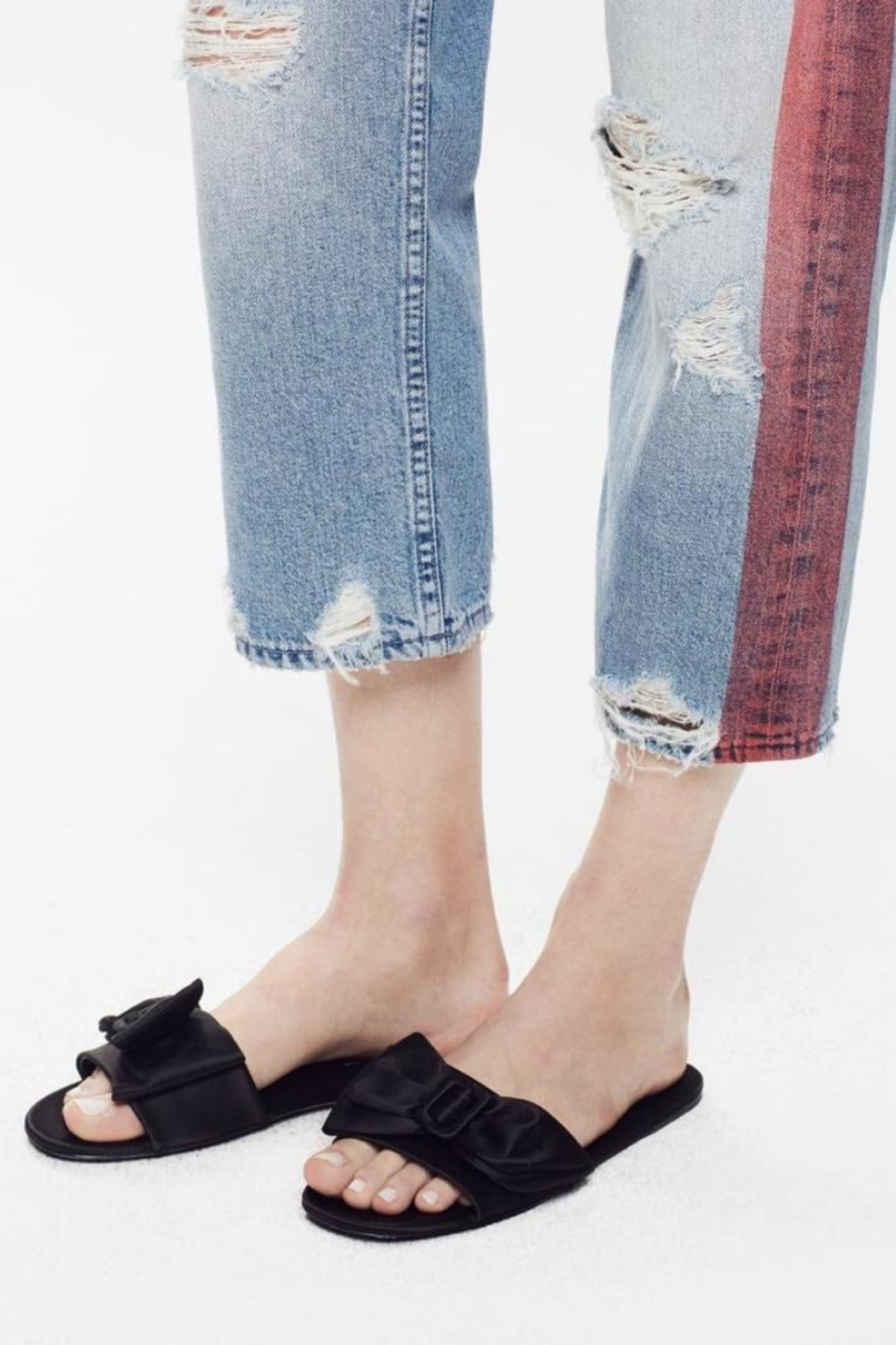 Mother Thrasher High Rise Jeans - Back Cropped Image